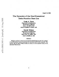 The Dynamics of the One-Dimensional Delta-Function Bose Gas