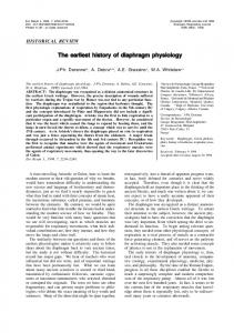 The earliest history of diaphragm physiology - Semantic Scholar