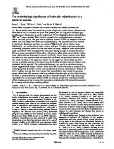 The ecohydrologic significance of hydraulic redistribution ... - CiteSeerX