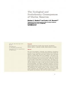 The Ecological and Evolutionary Consequences of ...