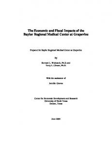 The Economic and Fiscal Impacts of the Baylor ...