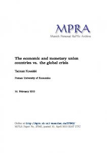 The economic and monetary union countries vs. the global crisis