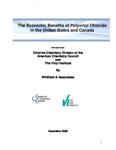 The Economic Benefits of Polyvinyl Chloride in the United ... - PVC