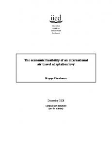 The economic feasibility of an international air travel ... - iied iied