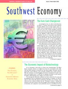 The Economic Impact of Biotechnology - Federal Reserve Bank of Dallas