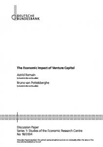 The Economic Impact of Venture Capital - ULB