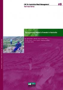 The economic impact of weeds in Australia - Convention on Biological ...