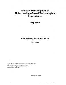 The Economic Impacts of Biotechnology-Based ... - AgEcon Search