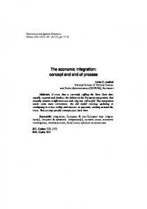 The economic integration - Theoretical and Applied Economics