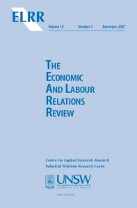 The Economic Labour and Relations Review