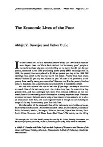 The Economic Lives of the Poor - American Economic Association