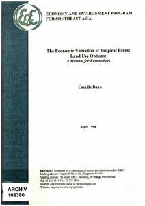 The Economic Valuation of Tropical Forest Land Use ...