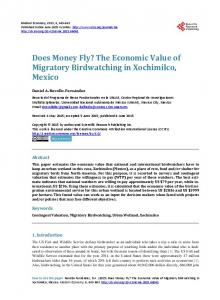The Economic Value of Migratory Birdwatching in Xochimilco, Mexico