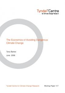 The Economics of Avoiding Dangerous Climate Change