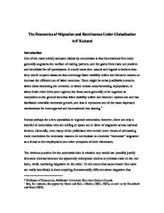 The Economics of Migration and Remittances ... - the United Nations
