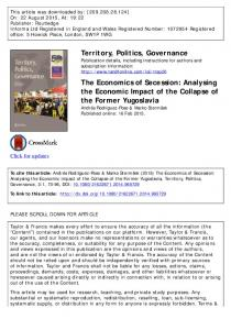 The Economics of Secession: Analysing the ...