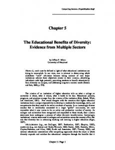 The Educational Benefits of Diversity: Evidence from Multiple Sectors