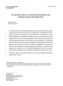 The Educative Game as a Sensitization Strategy