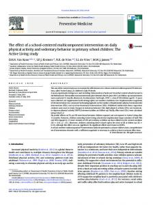 The effect of a school-centered multicomponent intervention on daily ...