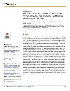 The effect of abandonment on vegetation composition and soil ... - PLOS