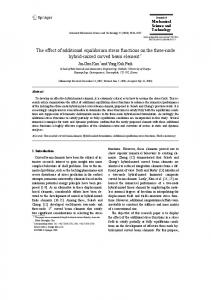 The effect of additional equilibrium stress functions on ... - Springer Link