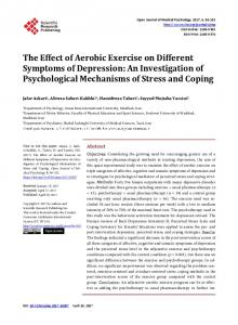 The Effect of Aerobic Exercise on Different Symptoms of Depression ...