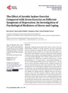 The Effect of Aerobic Indoor Exercise Compared with Green Exercise