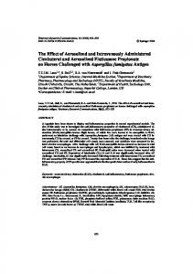 The Effect of Aerosolized and Intravenously Administered Clenbuterol ...