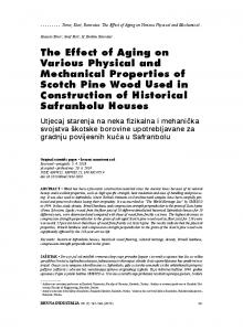 The Effect of Aging on Various Physical and ... - Drvna industrija