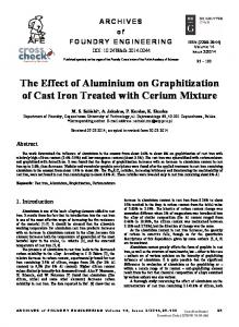 The Effect of Aluminium on Graphitization of Cast Iron