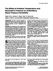 The effect of ambient temperature and barometric pressure on ...