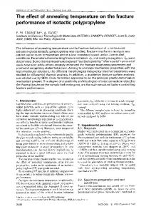 The effect of annealing temperature on the fracture ... - Springer Link