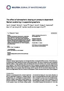 The effect of atmospheric doping on pressure ... - Beilstein Journal