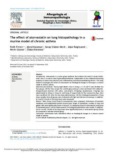 The effect of atorvastatin on lung histopathology in a