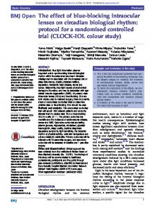 The effect of blue-blocking intraocular lenses on