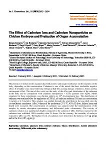 The Effect of Cadmium Ions and Cadmium Nanoparticles on Chicken ...