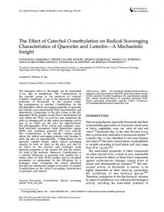 The Effect of Catechol O-methylation on Radical Scavenging ...
