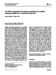 The effect of chemical and organic amendments on