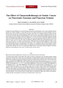 The Effect of Chemoradiotherapy at Gastric Cancer on Pancreatic ...