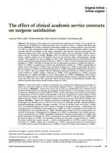 The effect of clinical academic service contracts on ... - Semantic Scholar