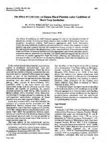 The Effect of Colchicine on Human Blood Platelets ... - Semantic Scholar