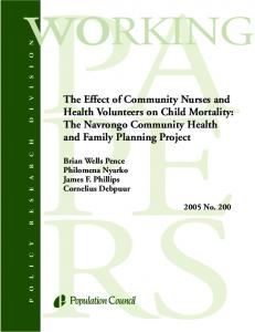The Effect of Community Nurses and Health Volunteers on Child ...