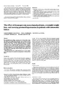 The effect of desmopressin on nocturnal polyuria, overnight weight ...