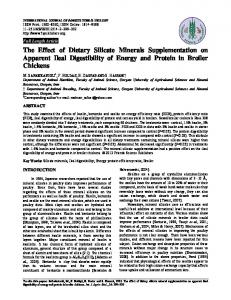 The Effect of Dietary Silicate Minerals Supplementation on Apparent ...