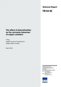 The effect of discontinuities on the corrosion behaviour of copper ...