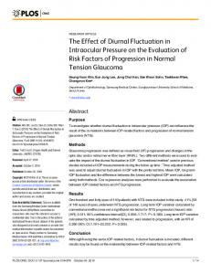 The Effect of Diurnal Fluctuation in Intraocular Pressure on the ...