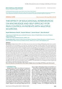 THE EFFECT OF EDUCATIONAL INTERVENTION ON KNOWLEDGE ...