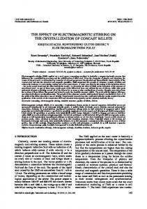 the effect of electromagnetic stirring on the crystallization of concast ...