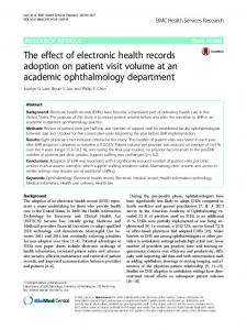 The effect of electronic health records adoption on ... - Springer Link