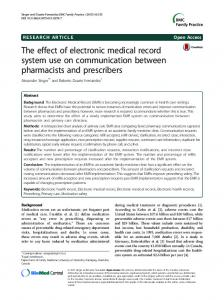 The effect of electronic medical record system use ... - Semantic Scholar
